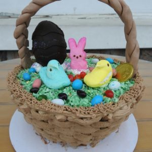 3D Easter Basket Cake