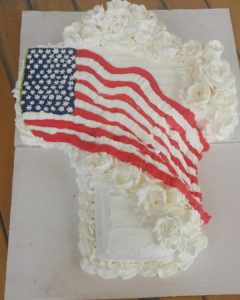 Flag Cross Cake