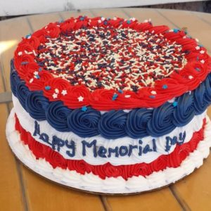 Tri Color USA Cake